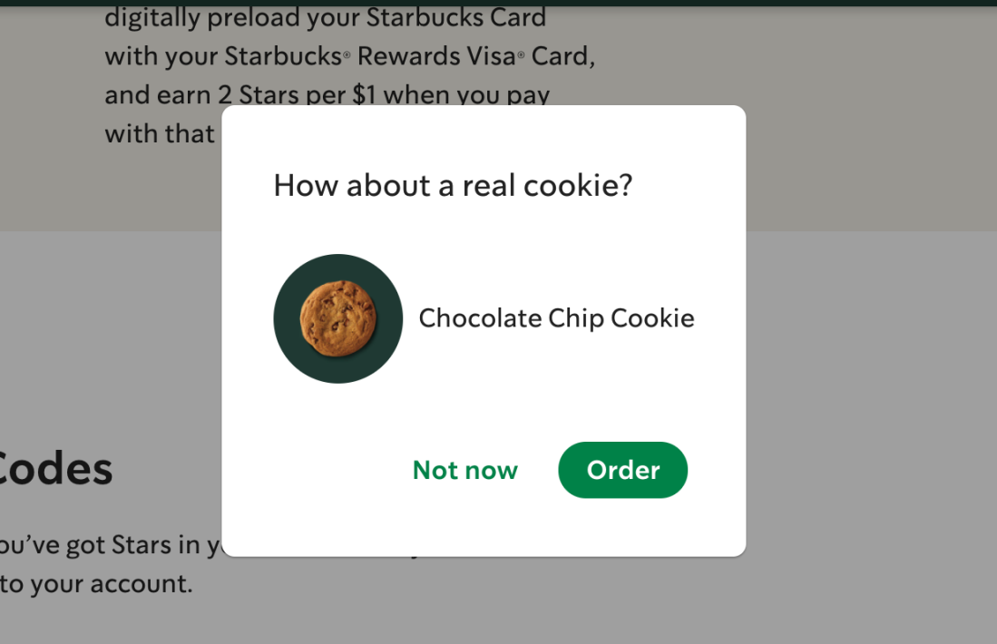 [How about a real cookie?]